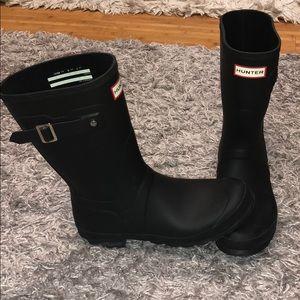 HUNTER black rain boots matte